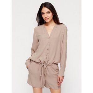 Eileen Fisher The Fisher Project Silk Tan Romper
